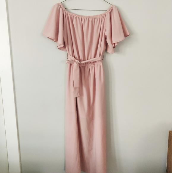 Blush Pink Dress Romper